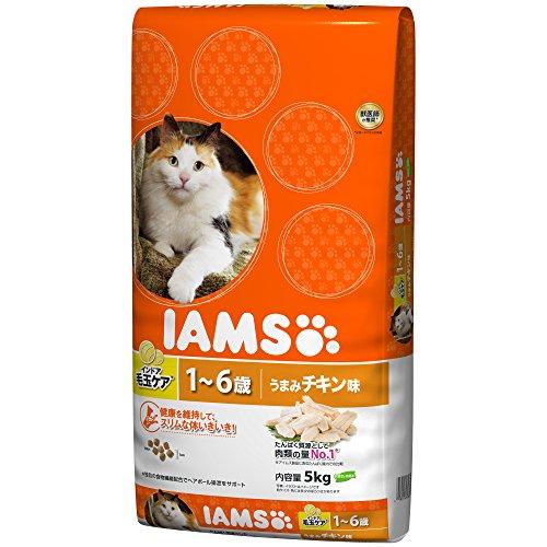 アイムス (IAMS) キャット インドア毛玉ケア 1-6歳用 うまみチキン味 5kg