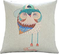 "Yamimi gentleman owl Linen Cloth Pillow Cover Cushion Case 18""£¬Q205 by Yamimi"