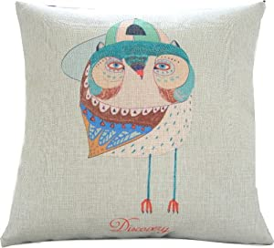 "Yamimi gentleman owl Linen Cloth Pillow Cover Cushion Case 18""£¬Q205 by Yamimi"