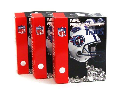 NFL Titans Power Strip Bandaid Bandages (Pack