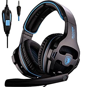 [2016 New Version Headset for PS4 PC] SADES 810S Gaming Headset Headphones for PlayStation4 PS4 PC Laptop MAC with Noise Reduction microphone