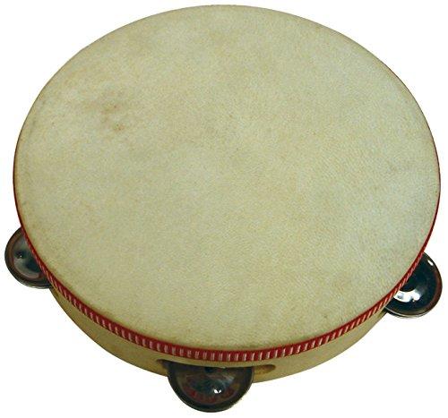 Claudio Reig - Pandereta de madera con 5 platillos, 20,5 cm diámetro (7083)