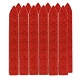 UNIQOOO 12Pcs 3 12 Red Carved Wax Sealing Sticks For Retro Vintage Wax Seal Stamp