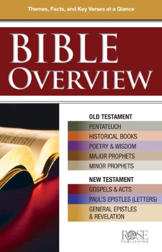 Bible Overview pamphlet- pkg of 5 pamphlets, by Rose Publishing