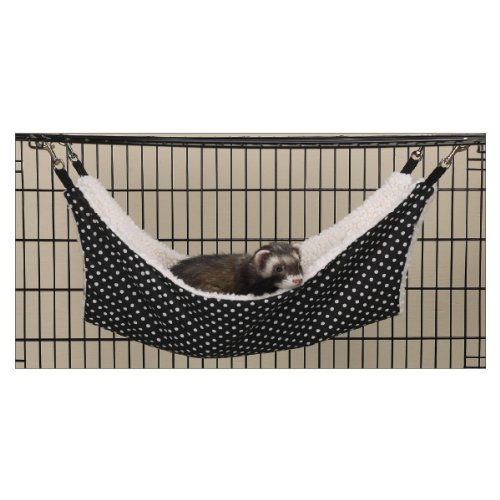 ProSelect Polyester Polka Dot Small Pet Cage Hammock, Black and White
