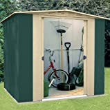 High Quality Canberra 6ft x 6ft (1.83m x 1.83m) Apex Metal Steel Garden Outdoor Shed For Storagex 6ft (183 x 185cm)