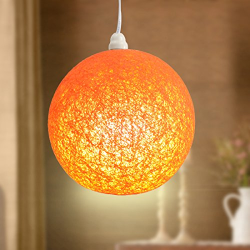 Hanging lamp shade-orange