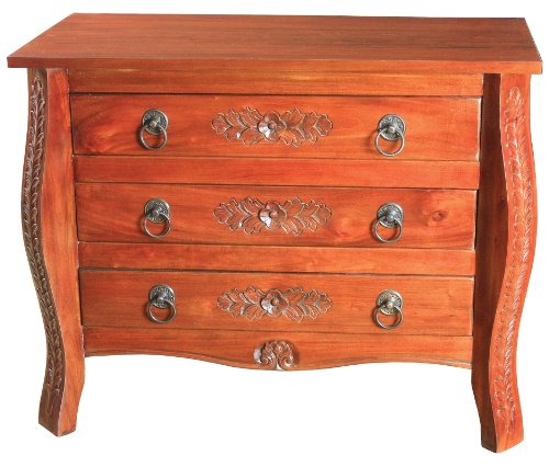Sterling 6500002 Hollister Mahogany Chest With 3-Drawer, 34-Inch, Aged Driftwood