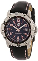 Luminox Colormark Black Dial Steel Black Leather Ladies Watch A.7261