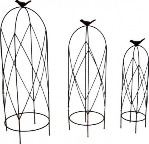 3er set rankger st schmiedeeisen rankhilfe obelisk f r. Black Bedroom Furniture Sets. Home Design Ideas