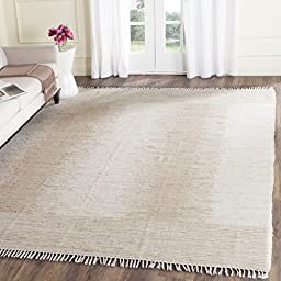 Safavieh Montauk Collection MTK752A Hand Woven Beige Cotton Area Rug, 5 feet by 8 feet (5\' x 8\')