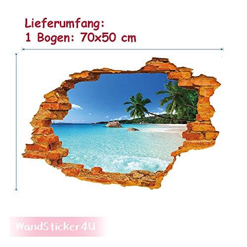 wandsticker4u-wandtattoo-inselparadies-in-3d-optik-effektbild-70-x-50cm-wanddurchbruch-strand-meer-o