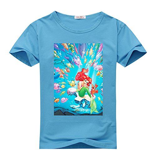 Crystal Stone The Little Mermaid Men's classic Light blue T-shirt
