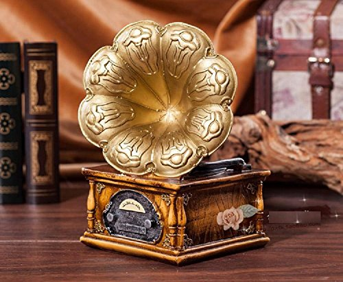 xjoel-mini-vintage-gramophone-phonograph-player-miniature-retro-ornaments-golden