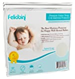 Baby Mattress Protector for Cribs - Waterproof Soft and Absorbent Quilted Cotton Surface - Comfortable and Hypoallergenic Mattress Pad for Baby Crib and Toddler Bed - Fitted Sheet Style Topper - Protects Children and Infants From Allergies and Allergens - Durable, Long Lasting, Machine Washable - Breathable to Keep Your Child Safe and Healthy