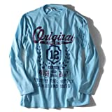 [2L・3L・4L・5L・6L]AZ DEUX アップリケ×プリントロングTシャツ(ROUGH RALLY) azpt-1419 大きいサイズ メンズ