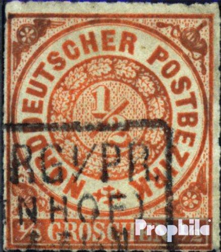 Norddeutscher Postbezirk 3 fein (B-Qualität) gestempelt 1868 Groschenwährung (Briefmarken für Sammler)