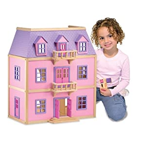 Melissa & Doug Multi-Level Wooden Dollhouse