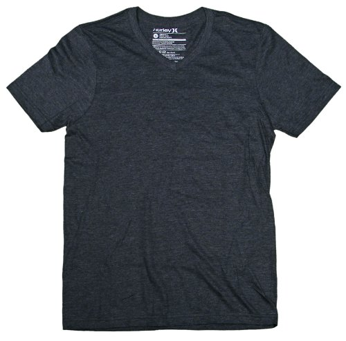 Hurley Staple V-Neck T-Shirt - Heather Black - XXL
