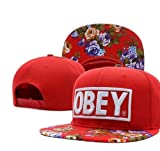 NC red obye snapback hat floral obey baseball cap fashion hip hop cap for man and woman