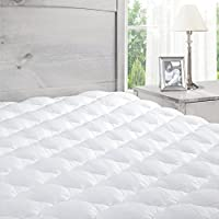 ExceptionalSheets Twin Mattress Pad with Fitted Skirt (White)
