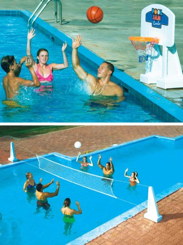 Pool Volleyball And Pool Basketball Game Combo Great Buy Hoangnam0846