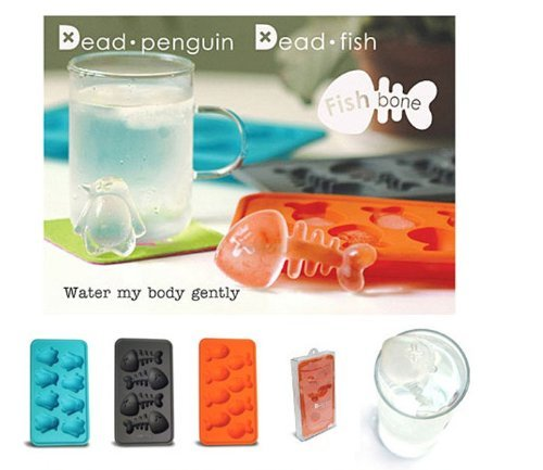 SMO Cute Penguin Mold Ice Cube Parti Bar Plateaux Marker Gel