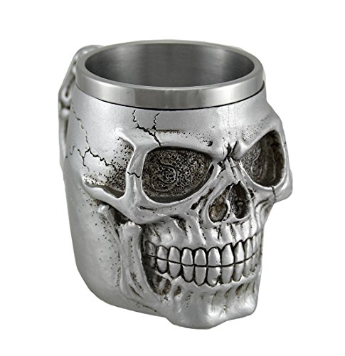 Silver Skull Coffee Mug (Skull Mug Coffee compare prices)