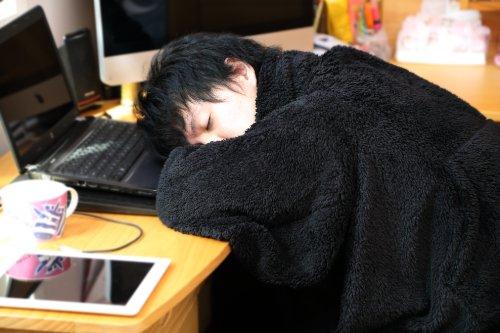 ★モフラン★着る毛布(ブランケット)★【MOFRAN】デラックス ★高級毛布仕様★ブラック