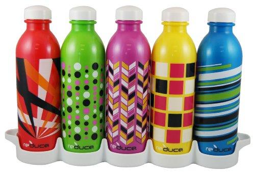 Reduce 01310 Waterweek Pop Item Water Bottles, 16-Ounce, Set Of 5 front-649234