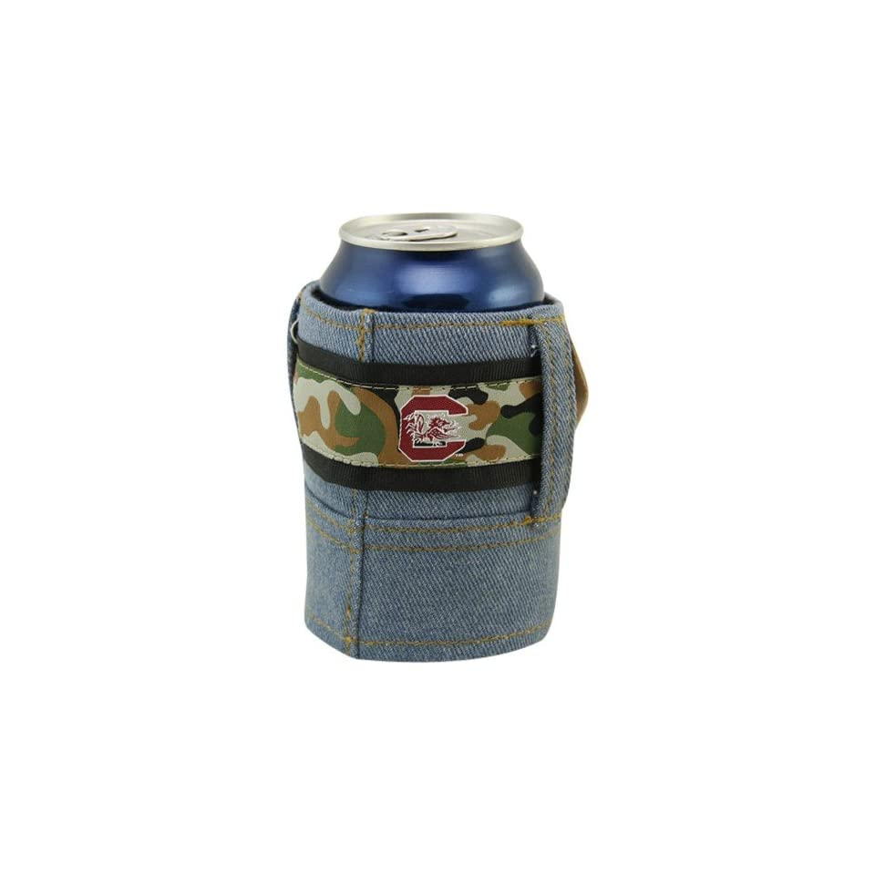 NCAA South Carolina Gamecocks Camo Brew Jean Can Koozie