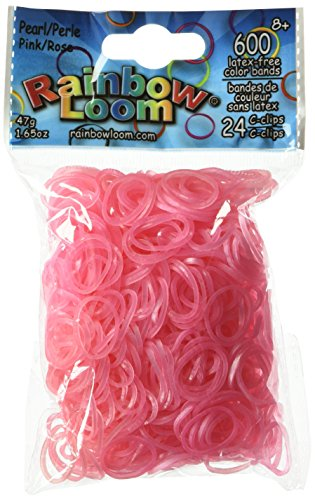 600 Count Pink Rainbow Loom Bands