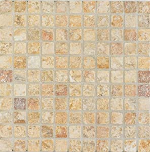 Arizona Tile 12 by 12-Inch Mosaic made from 1 by 1-Inch Tumbled