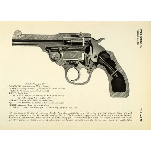 .32 Smith Wesson Caliber Iver Johnson Hinge Frame Revolver Pistol