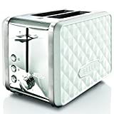 BELLA 13728 Diamonds Collection 2-Slice Toaster, White
