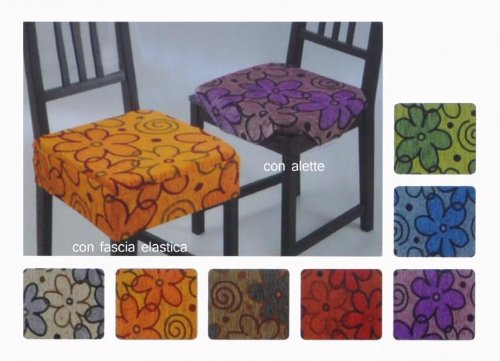 Daisy cuscini copri sedie nr 2 pcs con alette arredamento e decorazioni per la casa - Cuscini per sedie da cucina ...