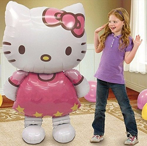 New-Large-Size-Hello-Kitty-Cat-Foil-Balloons-Cartoon-Birthday-Decoration-Wedding-Party-Inflatable-Air-Balloons-Classic-Toys