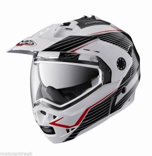 Caberg nouvelle tourmax sonic blanc noir rouge casque de moto