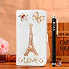 Locaa(TM) Apple IPod touch 5 Itouch5 3D Bling Case + Phone stylus + Anti-dust ear plug Deluxe Luxury Crystal Pearl Diamond Rhinestone eye-catching Beautiful Leather Retro Support bumper Cover Card Holder Wallet Cases - [General series] ice cream
