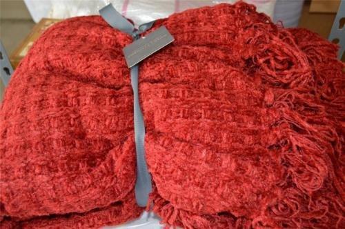 Restoration Hardware Chenille Braidered Throw Blanket