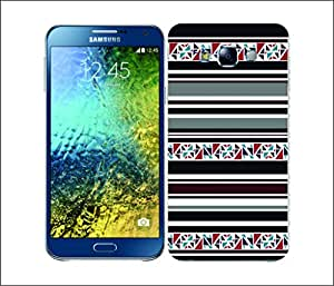 Galaxy Printed 2635 Printed Stripes DarkRed Hard Cover for Samsung A3