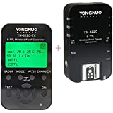 Yongnuo YN-622C-TX Wireless E-TTL Flash Trigger Kit with LED Screen for Canon Cameras, includes YN622C-TX Controller & YN622 C Transceiver, 1/8000s Sync Speed