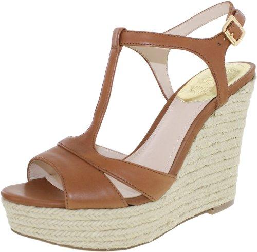 Vince Camuto Inslo 2 Medium Brown Women Shoes Platform Sandals & Wedges 7 front-213210