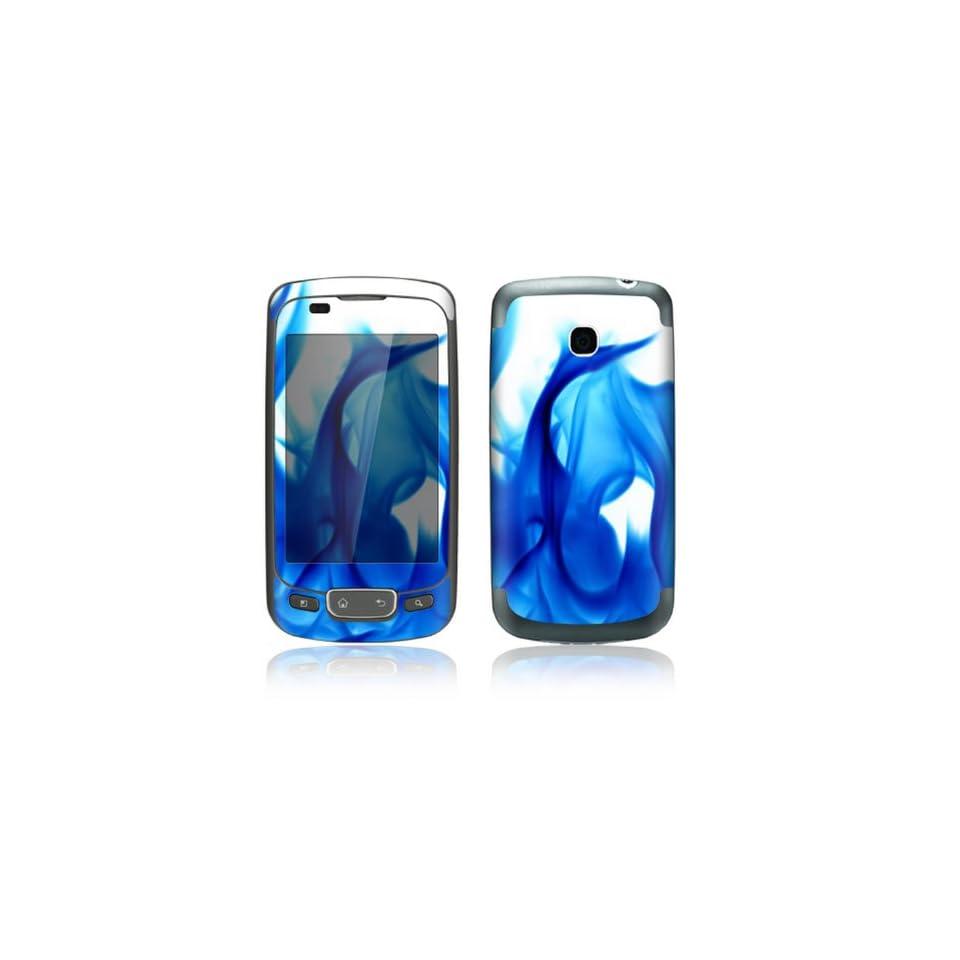 Blue Flame Design Decorative Skin Cover Decal Sticker for LG Phoenix