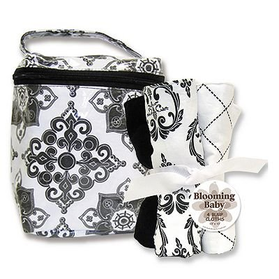 Trend Lab Versailles Bottle Bag And Burp Cloth Set Baby Gift Idea front-176866