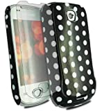 Black For Samsung Galaxy-3 Apollo I5800 I5801 Polka Dots Hard Case Cover+in car Charger - PART OF JJONLINESTORE ACCESSORIES