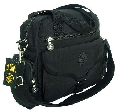 HONG YE Pure Cotton Stripe Slouch Bag