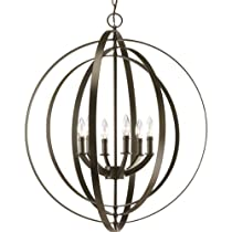 Big Sale Progress Lighting P3889-20 Equinox-Six Light Foyer, Antique Bronze Finish