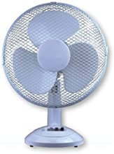 """12"""" 3 Speed Oscillating Desk Table Fan Cooling Air Cool Blowing Home Office 30cm"""