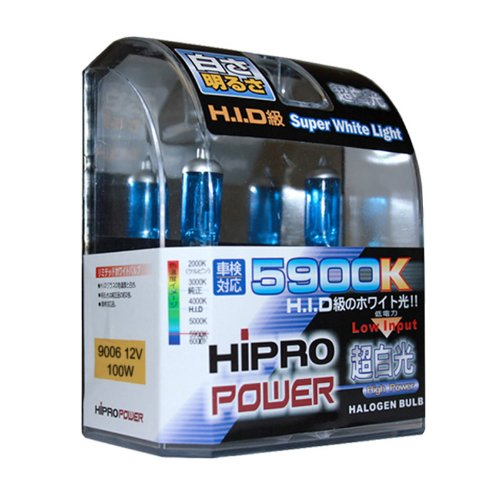 Hipro Power 9006 5900K 100 Watt Super White Xenon HID Fog Light Bulbs (9006 Fog Lights compare prices)